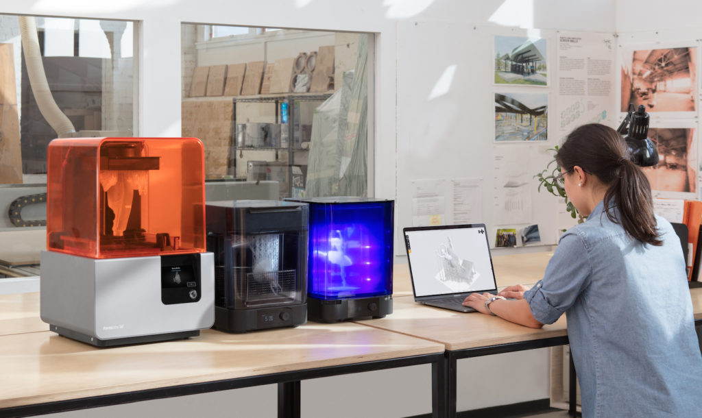 Form 2 3D Printer working within its eco-system