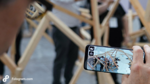 Using Fologram with mobile phone to design in Mixed Realities