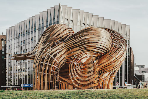 The Steampunk Pavilion from the 2019 Tallinn Architecture Biennale