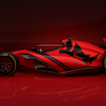 A concept racing car designed using Rhino 3D v7